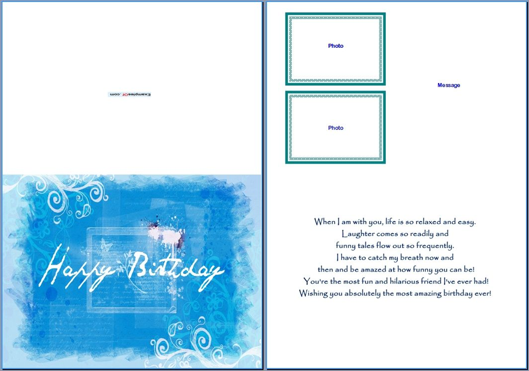 3 Birthday Card Templates For Word Images - Free Birthday With