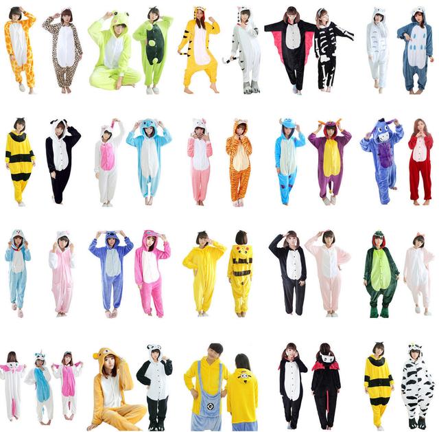 Pikachu Point De Tigre Pyjamas Animaux De Nuit Unisexe Flanelle À Capuche Ensembles de Pyjama Mignon de Bande Dessinée Homewear Pyjama Hiver Enfant Adulte