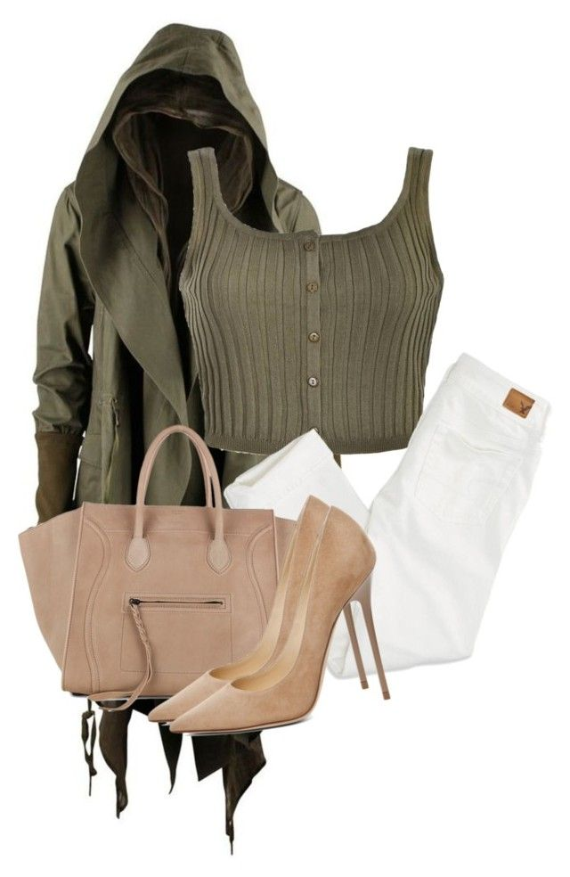 Untitled #2586 by xirix on Polyvore featuring polyvore fashion style Ally Fashion American Eagle Outfitters Jimmy Choo CÉLINE