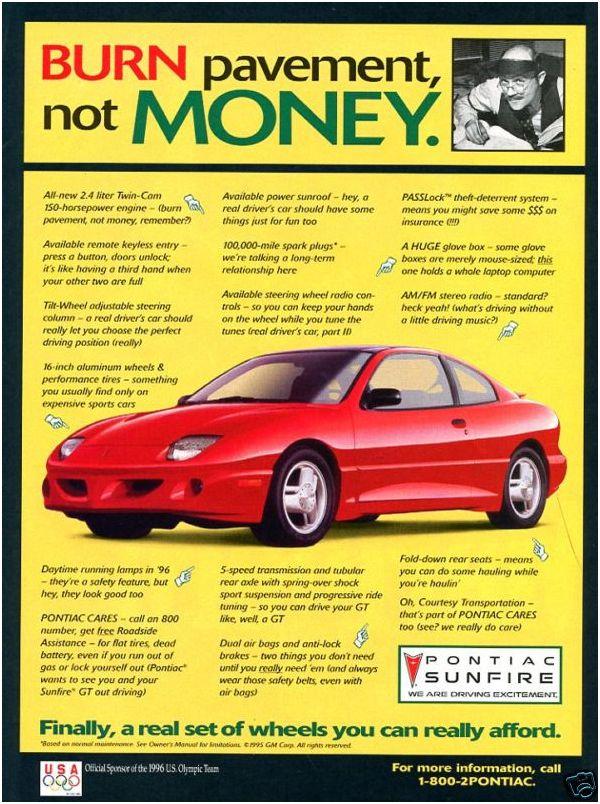 1995 pontiac sunbird