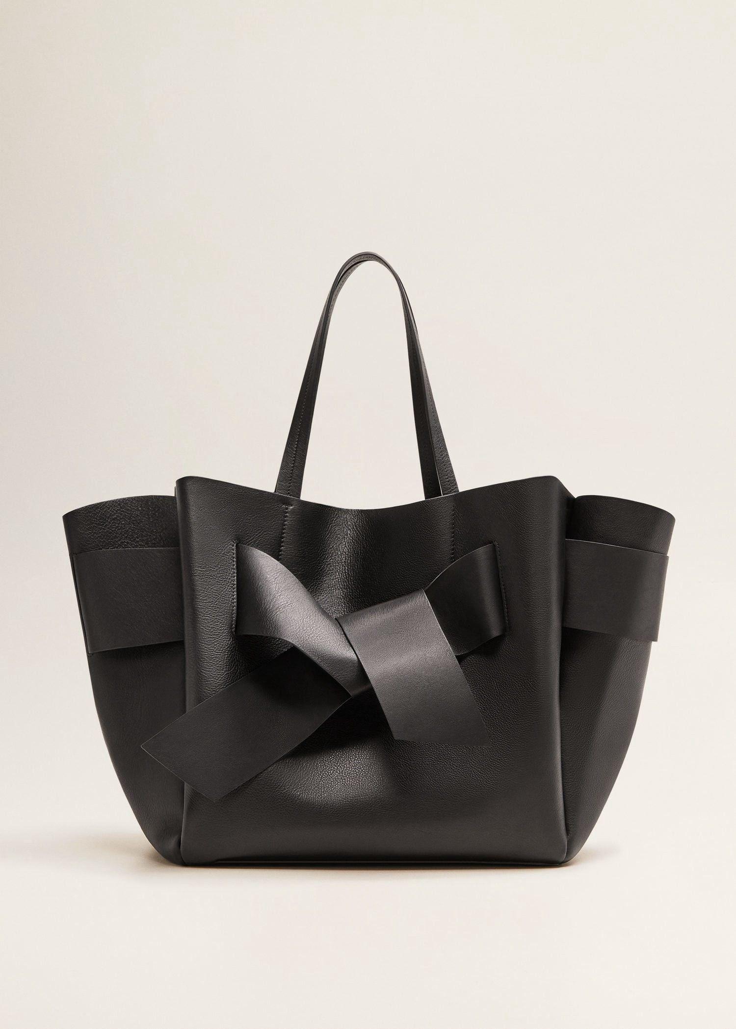 Mango Leather Shopper Bag Black One Size in 2019 | Shopper