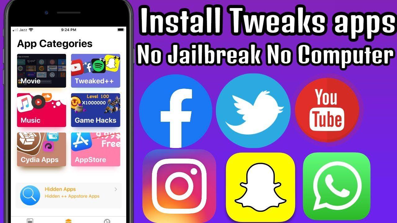 Install Tweaks Apps & Fix Revoked ++Apps Games on iPhone