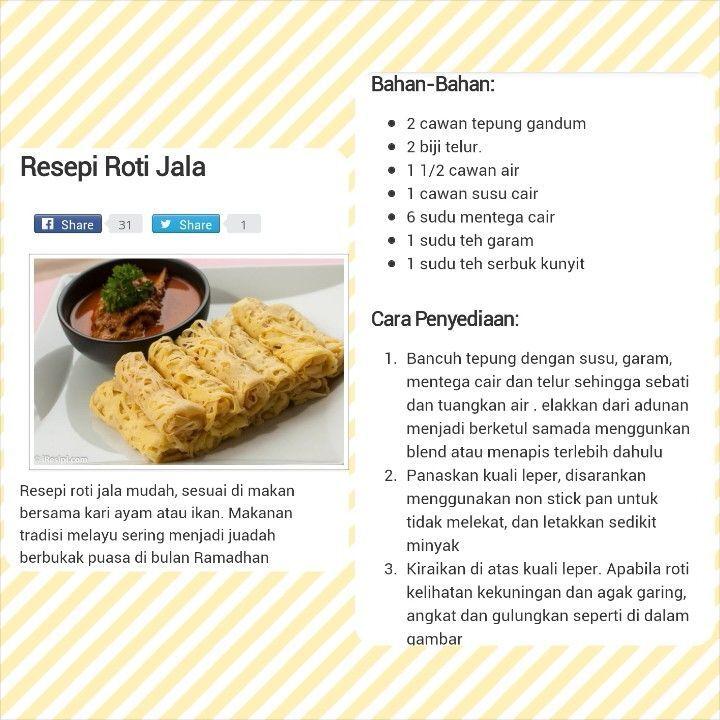 Resepi Roti Jala Resep Penyajian Makanan Cemilan