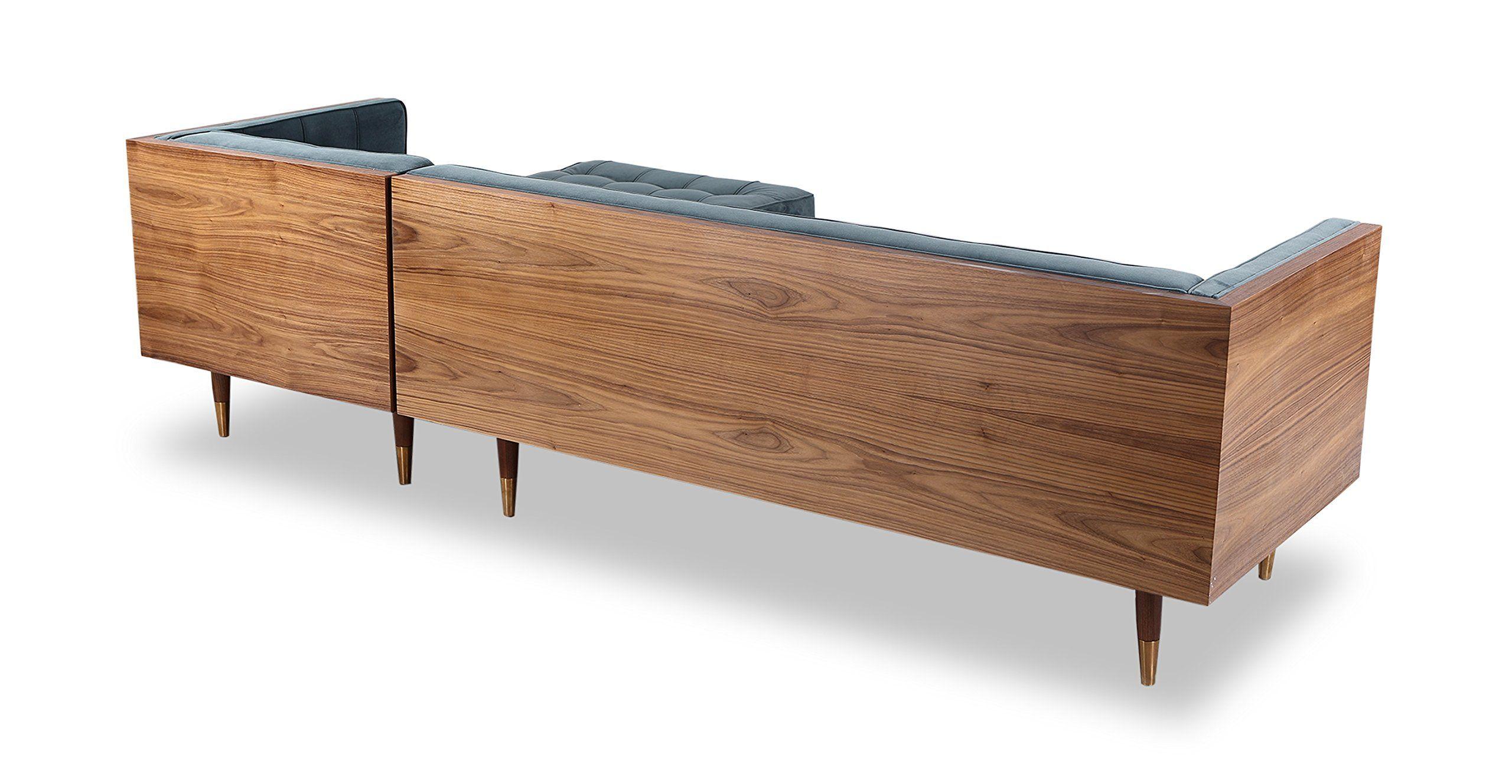 Amazing Kardiel Woodrow Midcentury Modern Box Sofa Sectional Right Ibusinesslaw Wood Chair Design Ideas Ibusinesslaworg