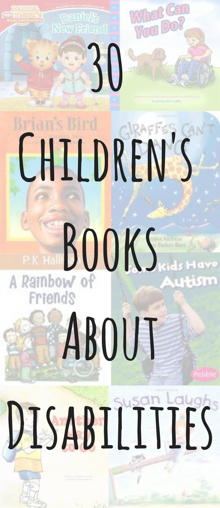 30 Children's Books About Disabilities   www.balancingthebaby.com