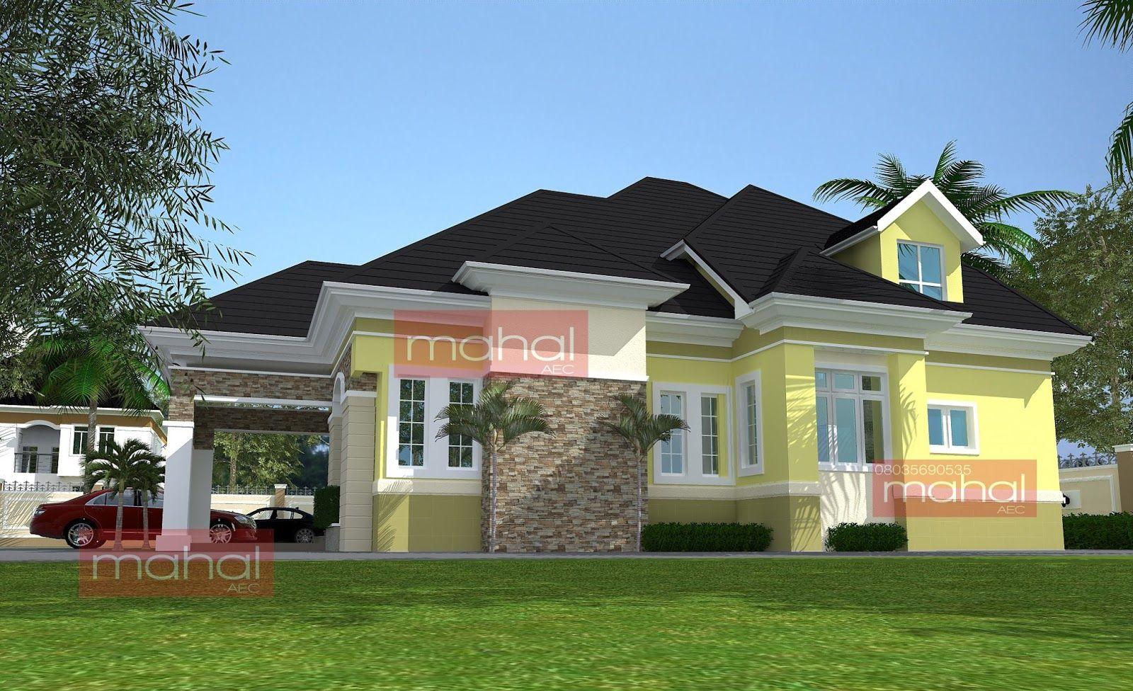 Contemporary Nigerian Residential Architecture Iyeu Otuo House Residential Architecture Building Design Plan Bungalow Floor Plans