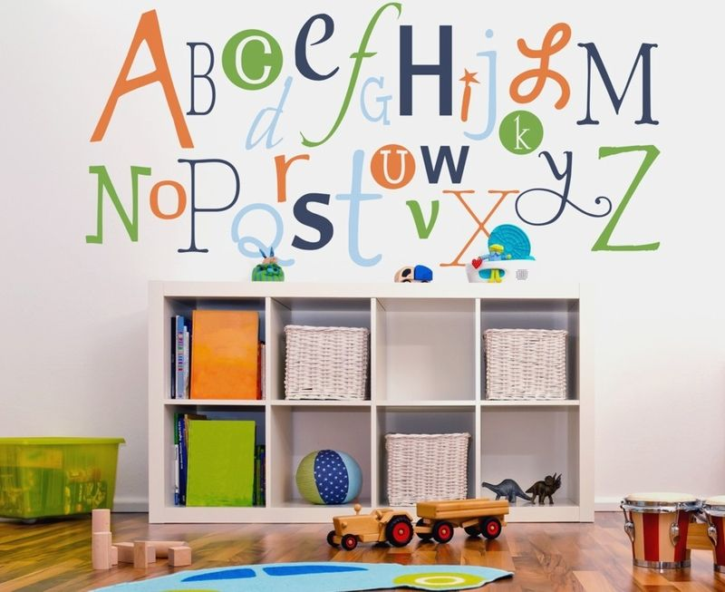 Alphabet Fun Wall Decal Perfect For The Playroom