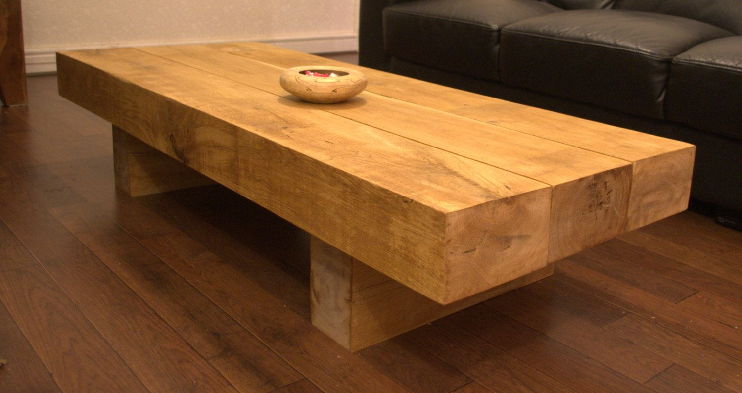 Oak sleeper coffee table from green oak railway sleepers from oak sleeper coffee table from green oak railway sleepers from sustainable sources 20000 geotapseo Gallery