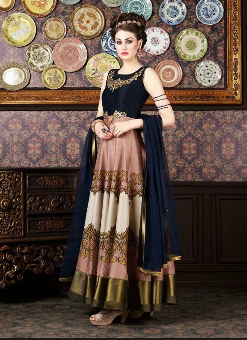 Buy indian designer anarkali salwar kameez alpani