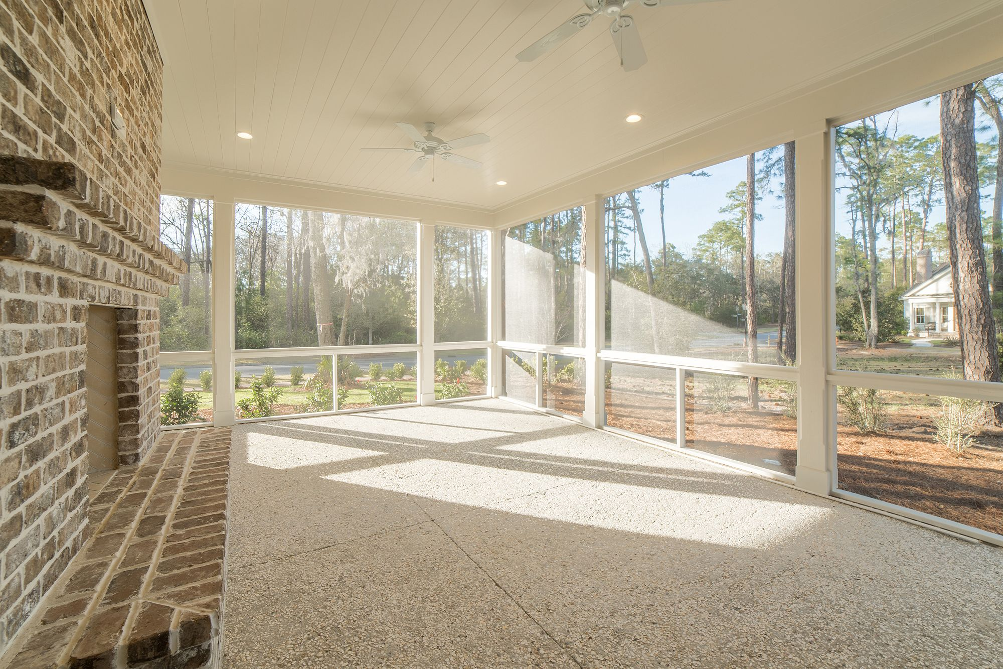 Large Screened In Porch | Lowcountry Living | Outdoor Fireplace ...
