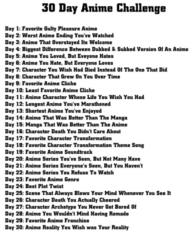 Follow my 30 Day Anime Challenge on Animated Observations