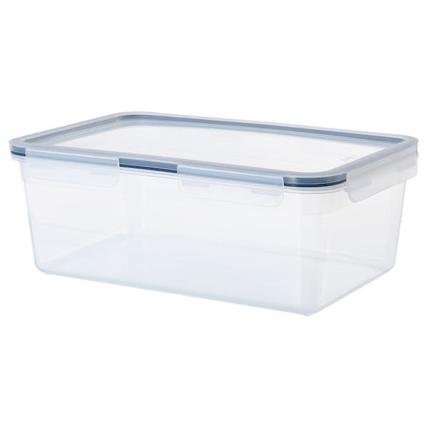 Ikea 365 Rectangular Plastic Food Container With Lid Length 32 Cm Volume 5 2 L Ikea In 2020 Plastic Kitchen Storage Containers Ikea 365 Ikea
