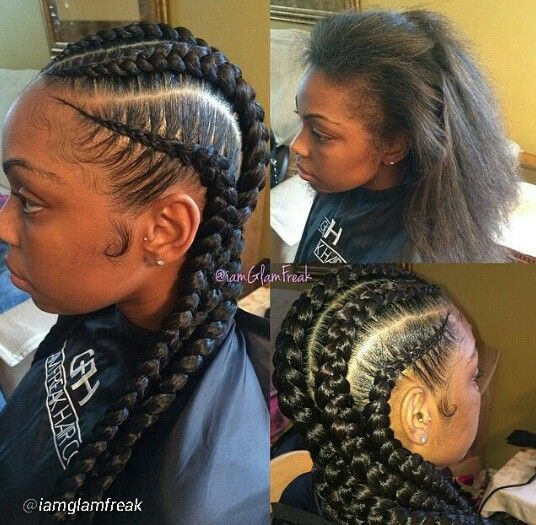 Incredible Cornrows Into Two Strand Twists Hair Pinterest Protective Hairstyle Inspiration Daily Dogsangcom