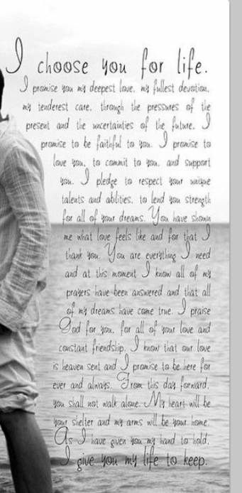 Wedding vows i promise my heart 57+ ideas #wedding ...