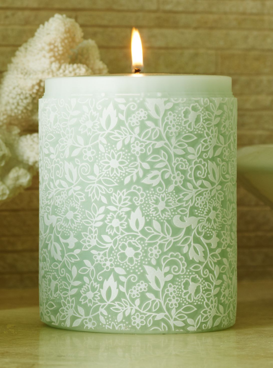 Parable Clovelly Froth on Duck Egg handcrafted candle - www.parabledesigns.co.uk
