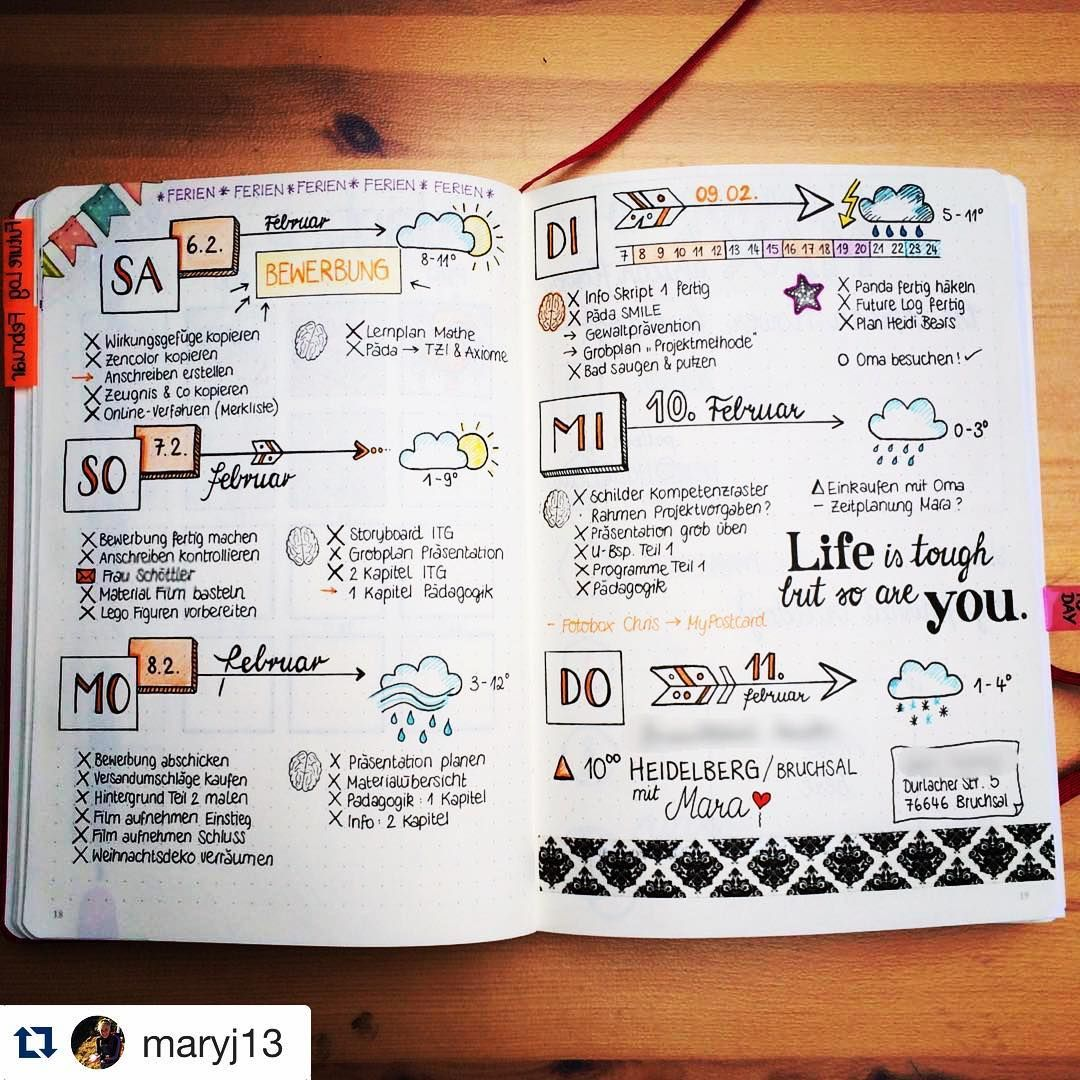 When I saw this#weeklyspread from @maryj13 i immediately thought ...