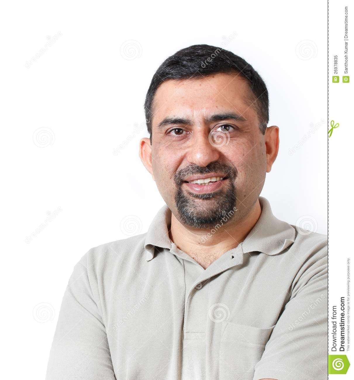 Smart & Smiling Middle Aged Indian Business Man Royalty Free Stock