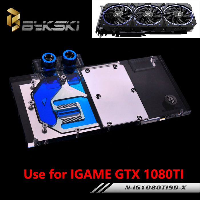 Bykski Full Cover Graphics Card Water Cooling Block Use For
