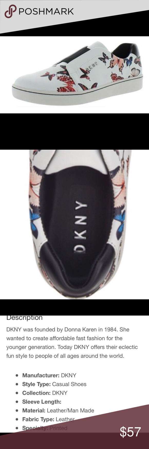 DKNY Leather Butterfly Sneakers   Dkny