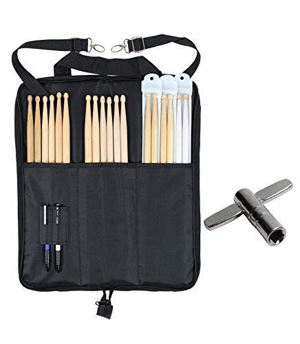 YMC DSB10 10mm Foam Drumstick Bag Holder Mallet Bag with A Drum Key
