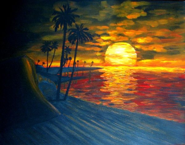 Beach Sunset Paintings Seascapes Gallery Art For Sale Sunset