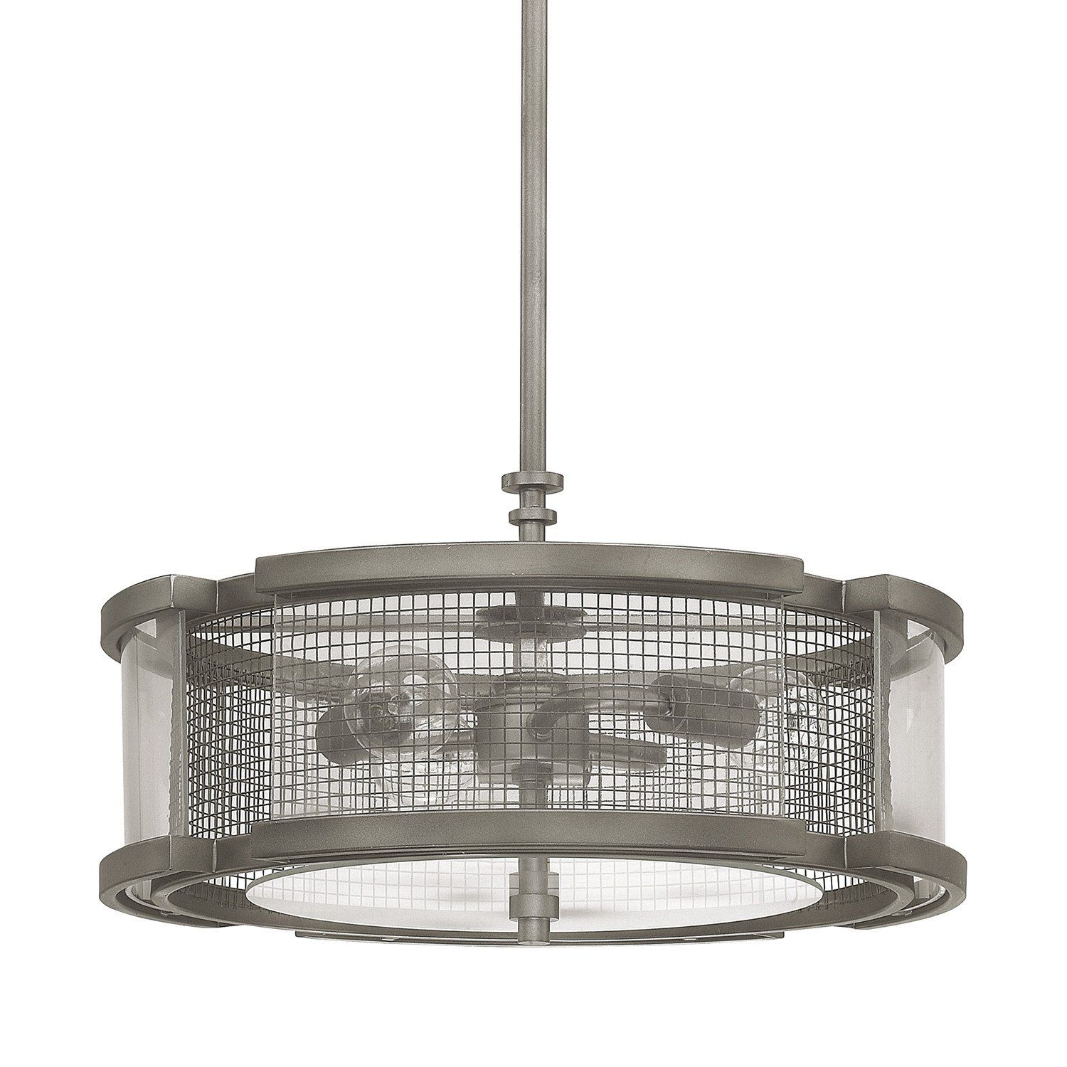 This contempoary 3 Light Pendant is part of the Carson Collection ...