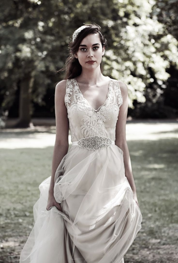 Catherine Deane for BHLDN Onyx Gown Size 2 XS Ivory Bridal Dress ...
