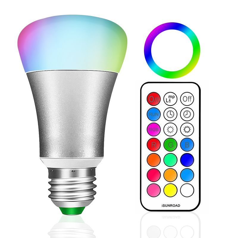 Oferta caliente E27 RGB LED de La Lámpara 10 W LLEVÓ el Bulbo Del