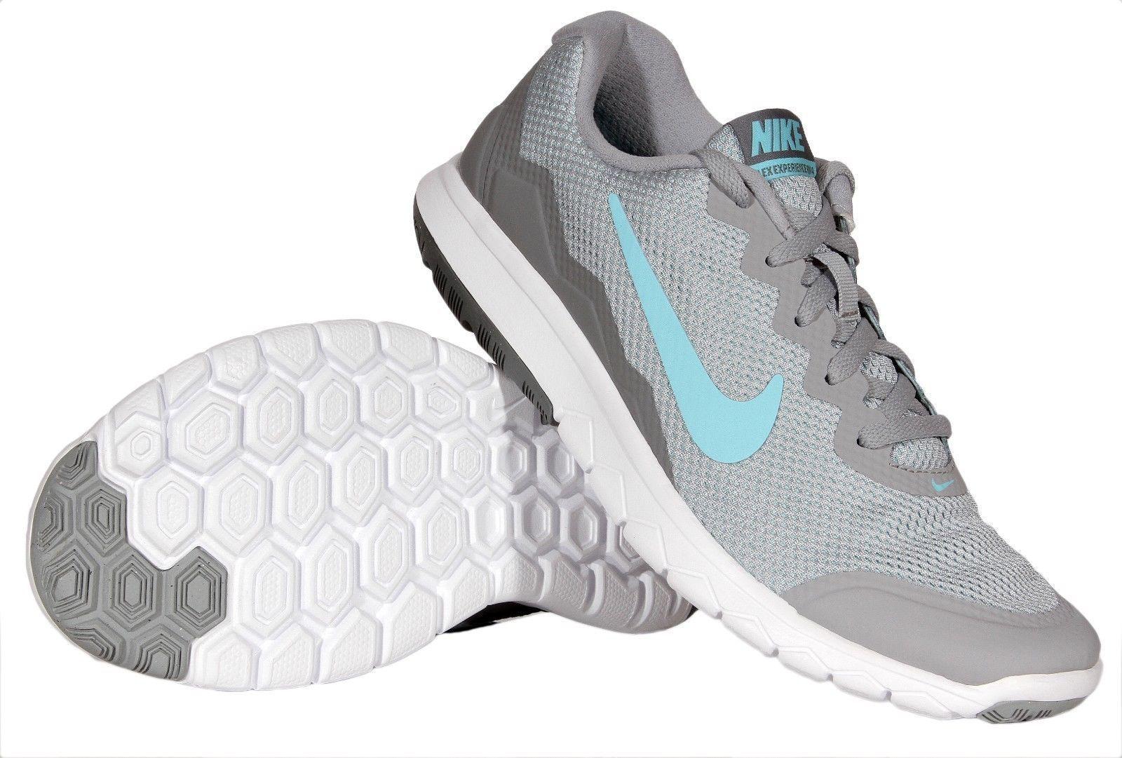 85e1ef1ac687 Brand New Womens Nike Flex Experience RN IV 749178-002 Wolf Grey Blue Sizes  7-10