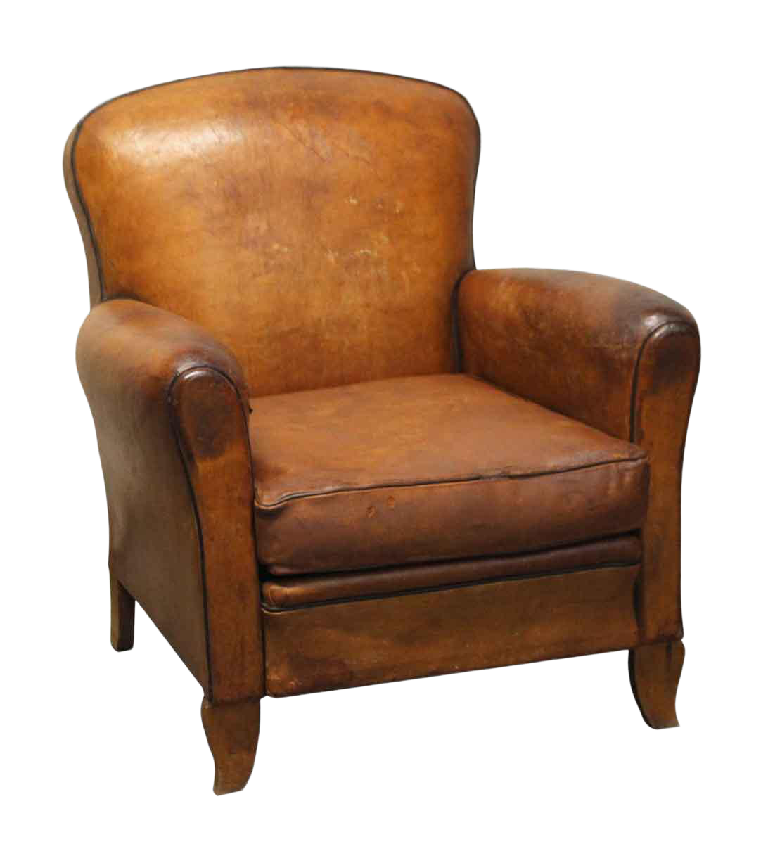 Vintage Mid Century French Leather Club Chair On Chairish Com Vintage Leather Chairs Leather Chair Living Room Brown Leather Chairs Leather club chairs for sale