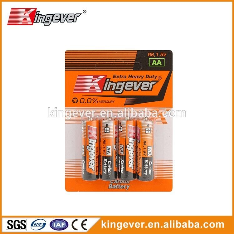 Hot Sale R6 Size 1 5 Volt Industrial Aa Batteries With Different Jacket Battery Blister Card Carbon