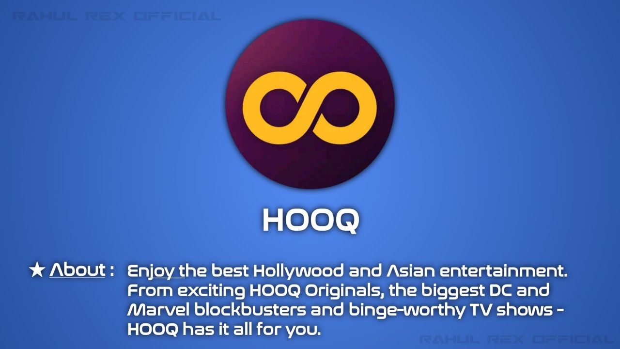 Hooq TV/WebSeries/Movies Streaming Platform INDIA