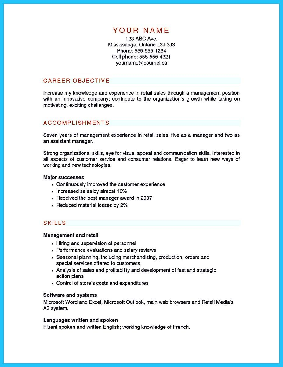 Retail Management Resume You Can Start Writing Assistant Store Manager Resume