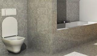 Mozaiektegels badkamer pinterest badkamer tegel douches en tegel - Doucheruimte idee ...