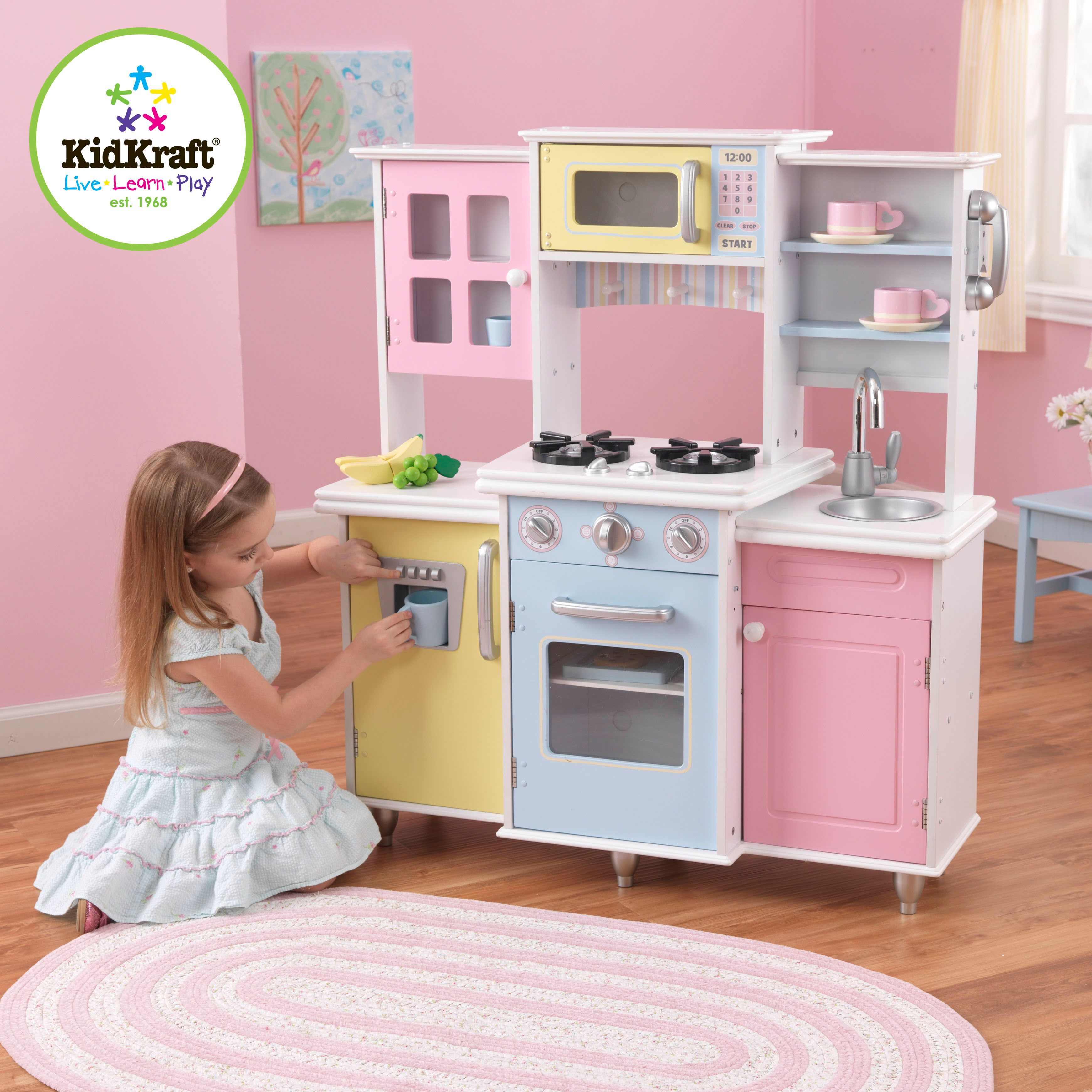 Kidkraft Play Kitchen Set kids kitchen set - kidkraft master cook's kitchen for kids | kids