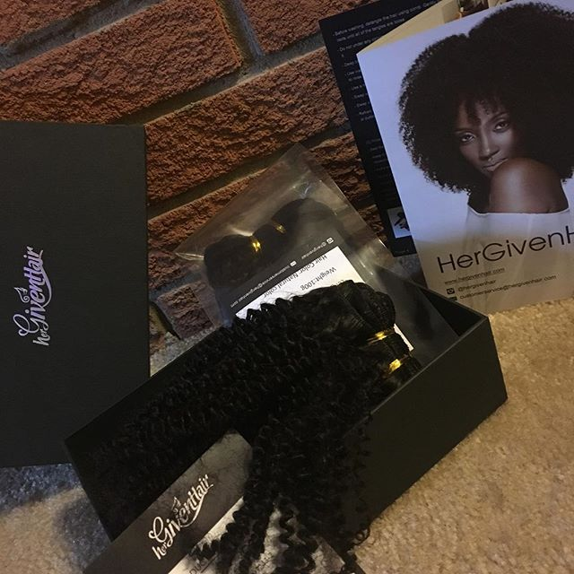 Hergivenhair Kinky Textured Hair Weave Natural Hair Extensions