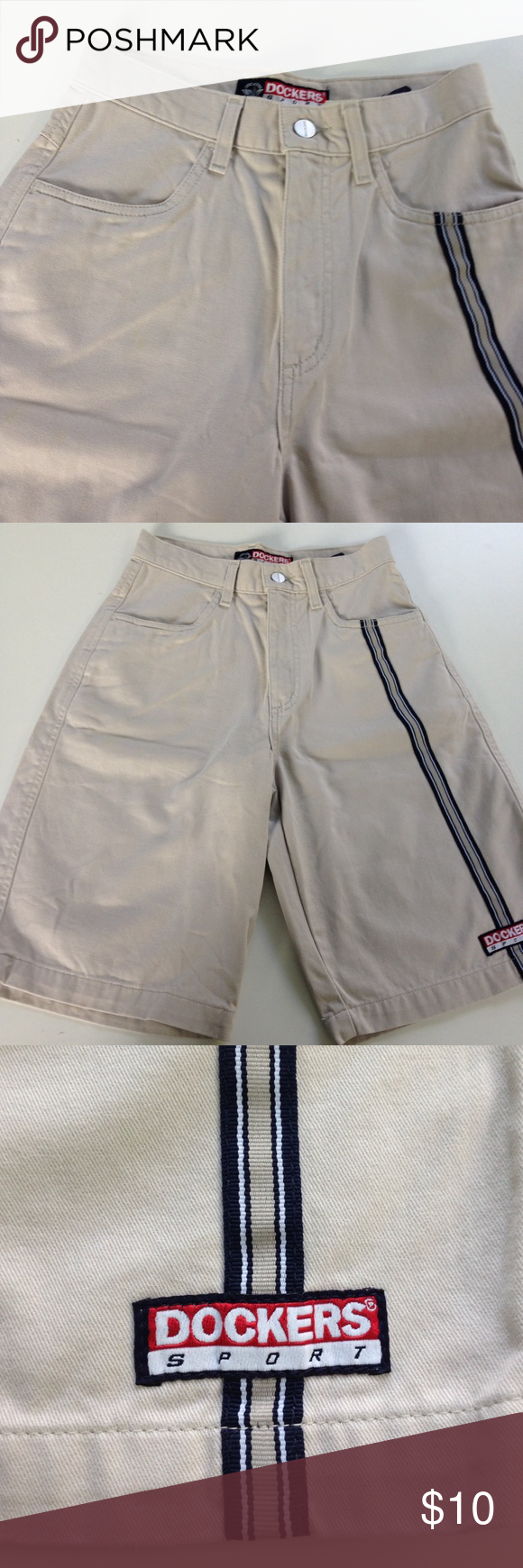 Dockers Sport Boys Shorts Dockers Sport boys shorts. Khakis for boys. 100percent cotton, with stripe. 12R Dockers Bottoms Shorts