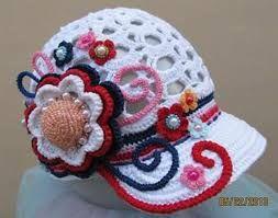 Resultado de imagen para como hacer gorros tejidos a crochet con viseras f4db2cf7645