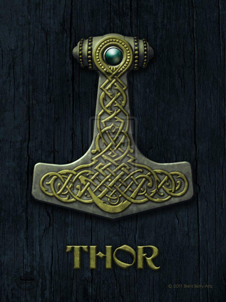 Thors hammer mjlnir meaning crusher httpsenpedia norse symbols biocorpaavc