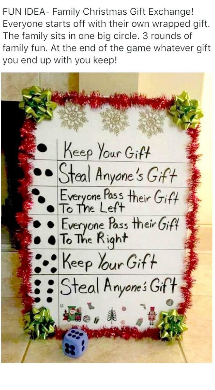 Dice Christmas Gift Exchange : christmas, exchange, Family, Christmas, Exchange, Gifts,, Exchange,, Games
