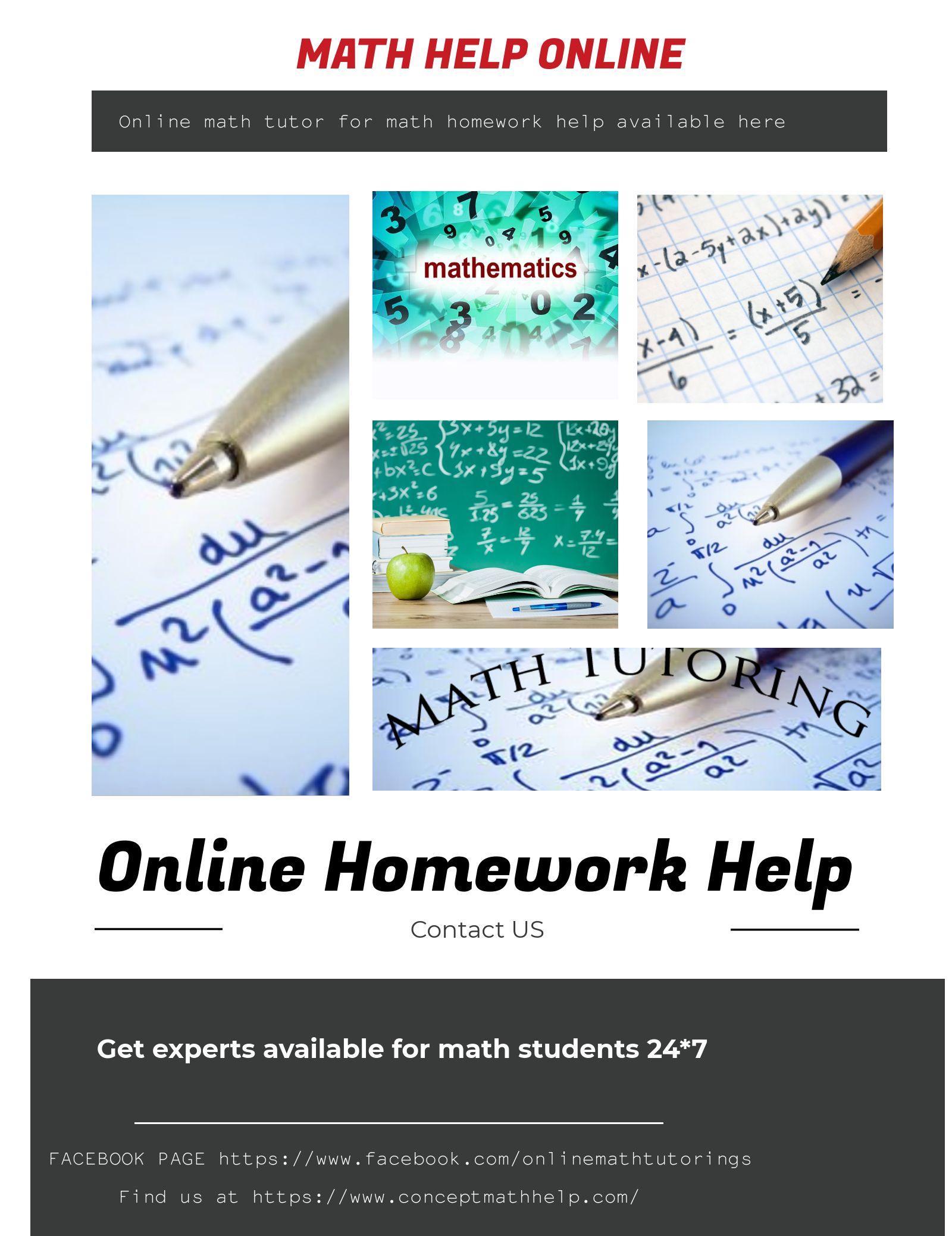 Instant experts advice for all kinds of math problems for students