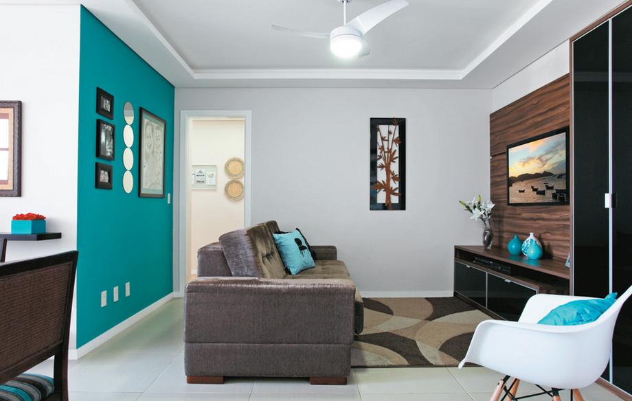 Paredes turquesa decora o para apartamento pinterest for Paredes turquesa y gris