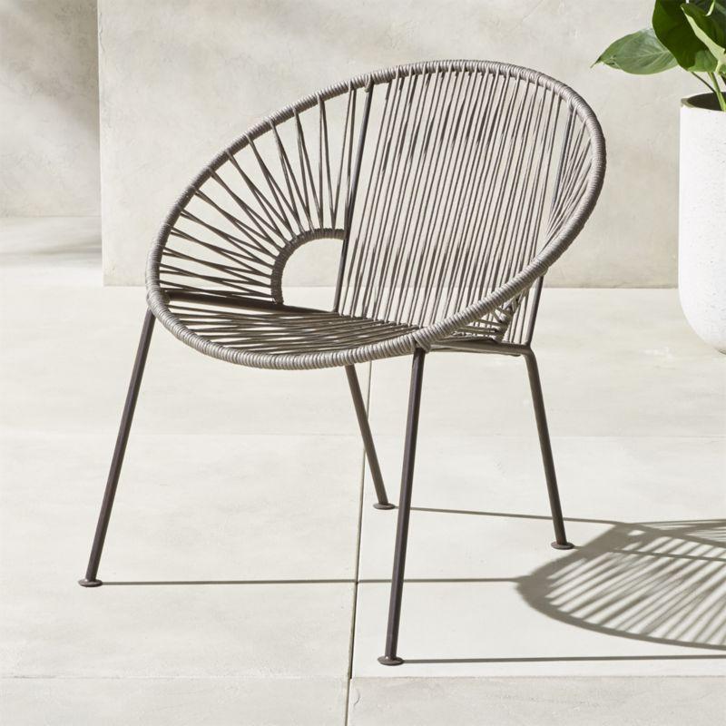 Ixtapa Grey Lounge Chair Modern Outdoor Chairs Outdoor