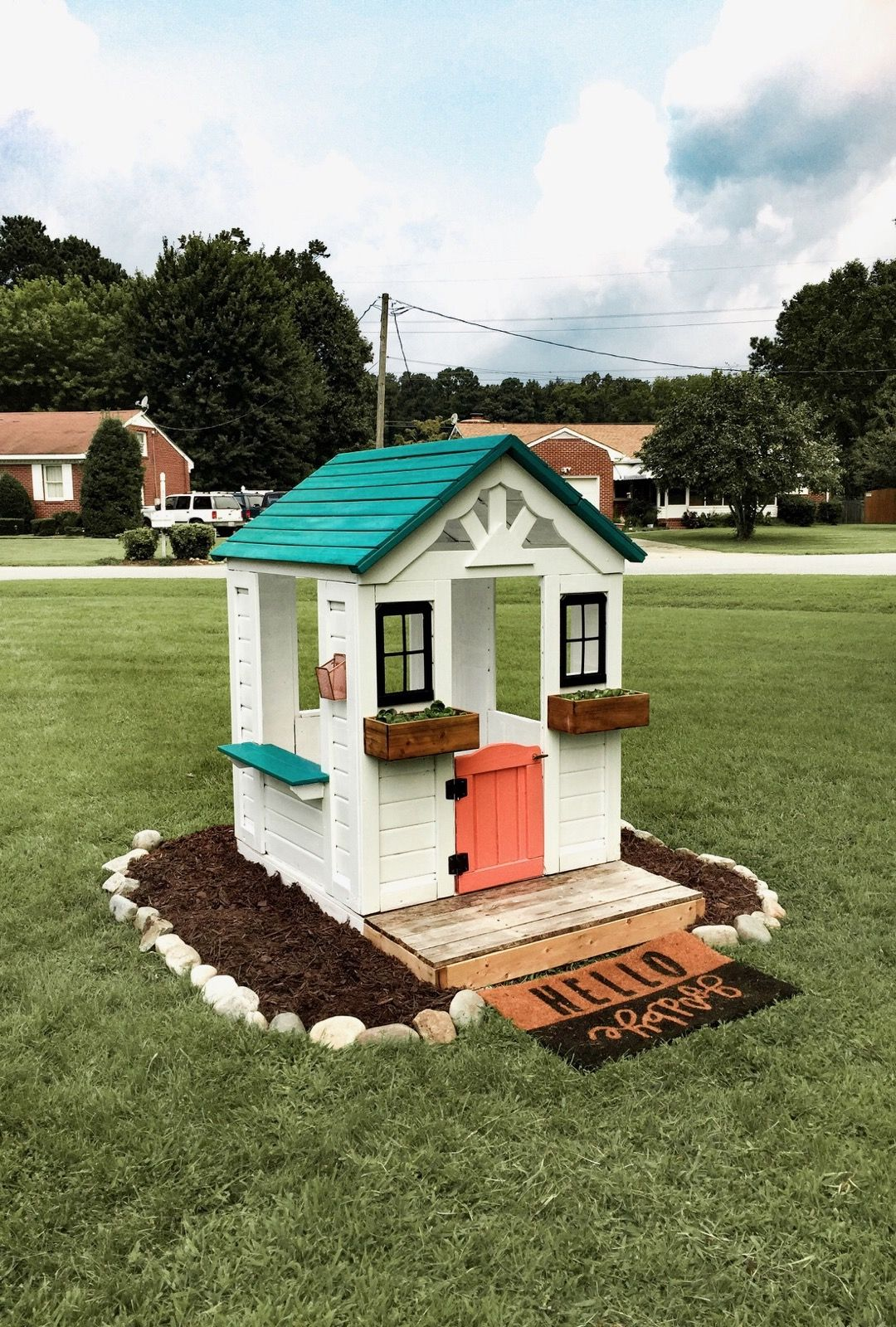 DIY Kids Outdoor Playhouse