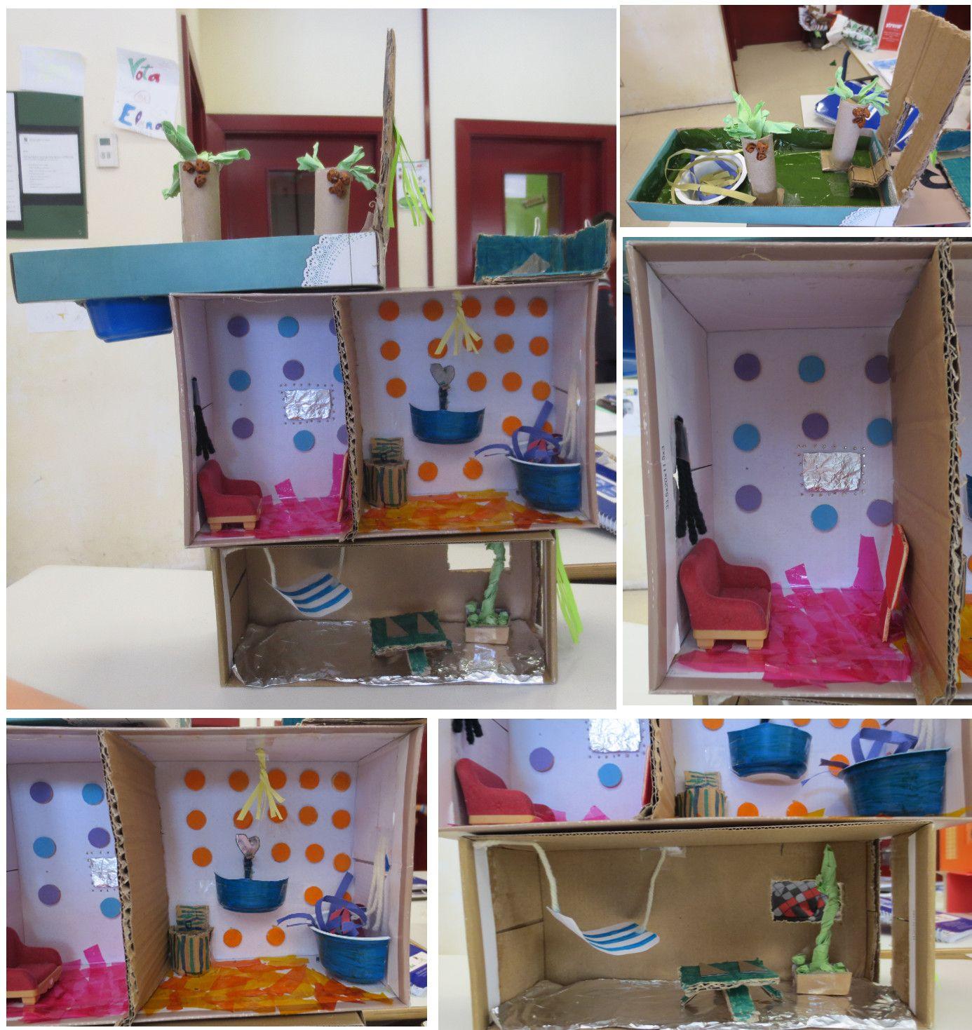 Diseno De Casa Nº1 Trabajo En Equipo Realizado Con Material Reciclable Colegio Alameda De Osuna 5º De Ep Proyectos Disenos De Unas Materiales Reciclados