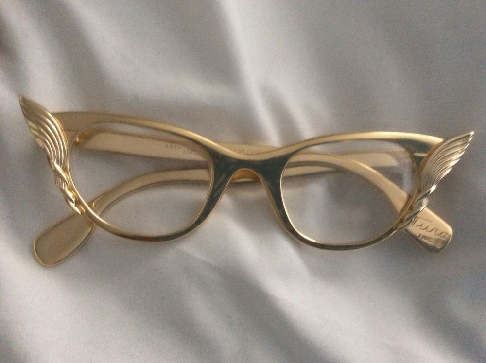 70e915204a8c Vintage Cat Eye Glasses Gold By Tura Frame Funky Glasses