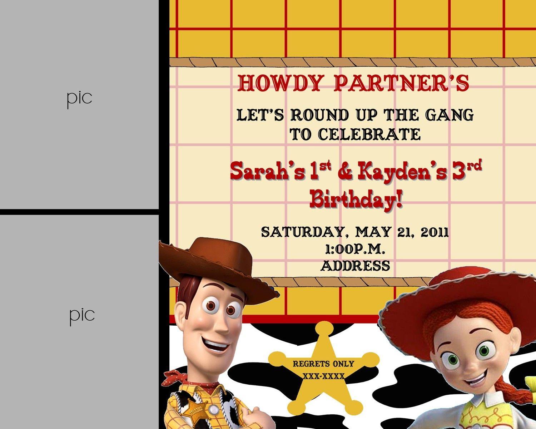 Woody & Jessie Toy Story Birthday Invitation | Alaina\'s 2nd ...
