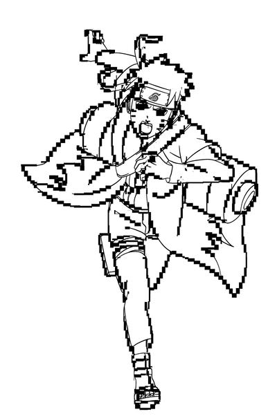 Naruto Shippuden Naruto Sage Mode Lineart By Ezio Anime On Deviantart Naruto Drawings Anime Naruto Sage