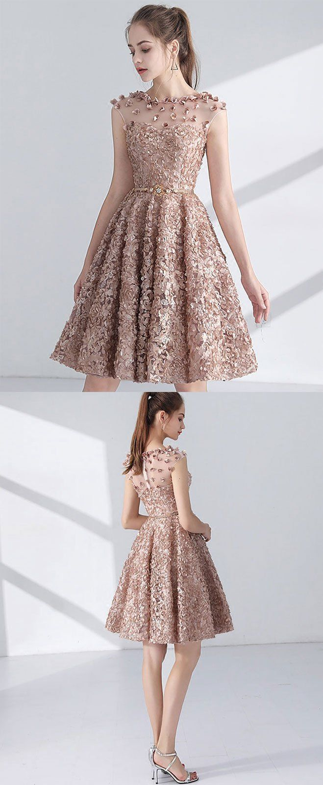 Cute A line short prom dress, homecoming dress | Kleider und Kleidung