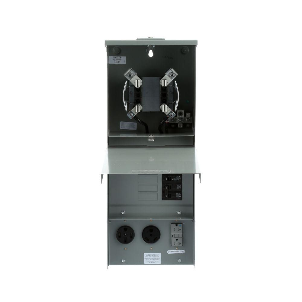 Temporary Power Outlet Panel with 20, 30, 50 Amp Receptacles Top Fed ...